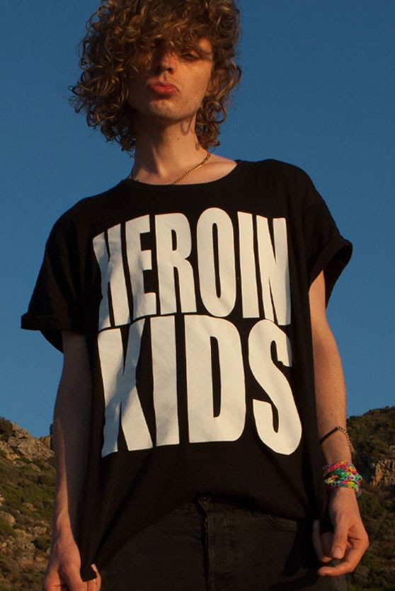 HEROINKIDS LOGO T-Shirt in black for MEN