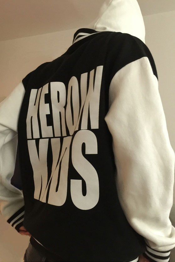 HEROINKIDS Hooded College Jacket