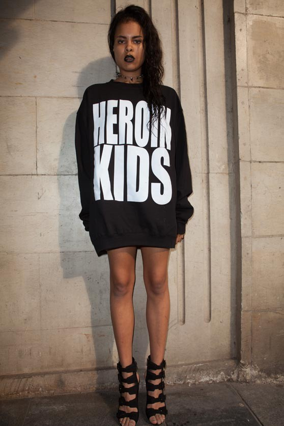 HEROINKIDS Oversized Logo Sweater