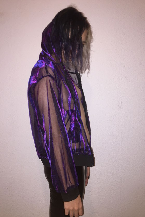 Iridescent rave jacket