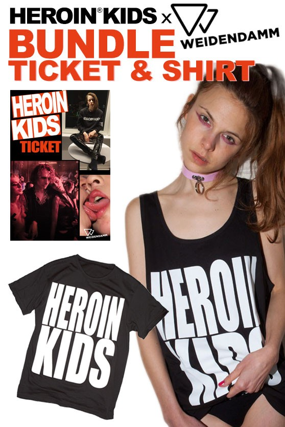 Ticket & Shirt Bundle - Nov 9 - HeroinKids Party Hannover