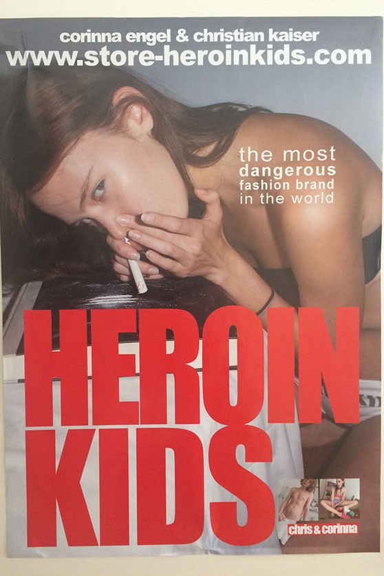 COCAINE Brand Poster Ad by HEROIN KIDS